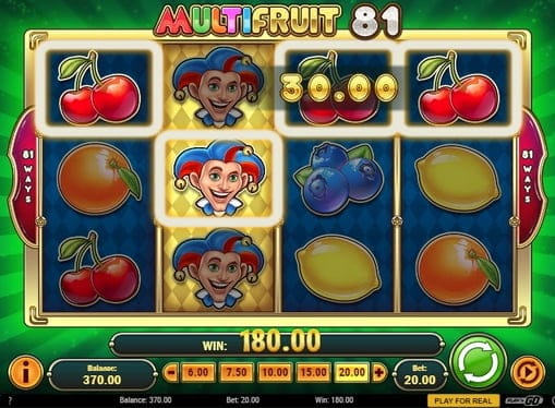 Комбинация с диким символом в Multifruit 81